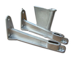 Aluminium Die-Cast Components - Bidet Brackets (with & without runner)